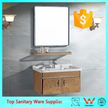 Stainless steel wall hung bathroom vanity