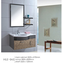 Diseño moderno espejo de pared de acero inoxidable gabinete de baño con CE