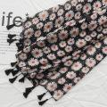 Foulard en coton et lin de haute qualité imprimé écharpe femmes hijab tassel écharpe