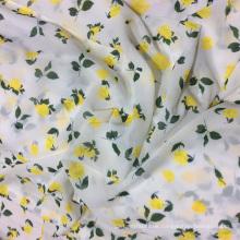 Gelbe Rose-Digital Druck Chiffon Kleid Stoff