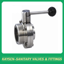 Thread/weld Hygienic Butterfly Valves 3A/ISO/IDF