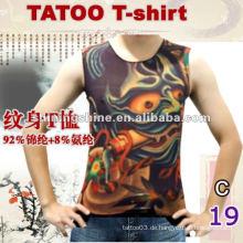 2016 heißes Verkauf sleeveless dünnes Tätowierungst-shirt, Tätowierunghülsenkleidung