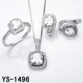Ювелирные изделия с бриллиантами 925 Серебряная микро проложить параметр CZ установленное.