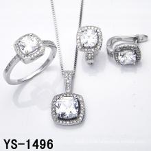 Diamant-Schmuck 925 Silber Micro Pave Einstellung CZ Set.