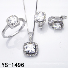 Diamond Jewelry 925 Silver Micro Pave Setting CZ Set.