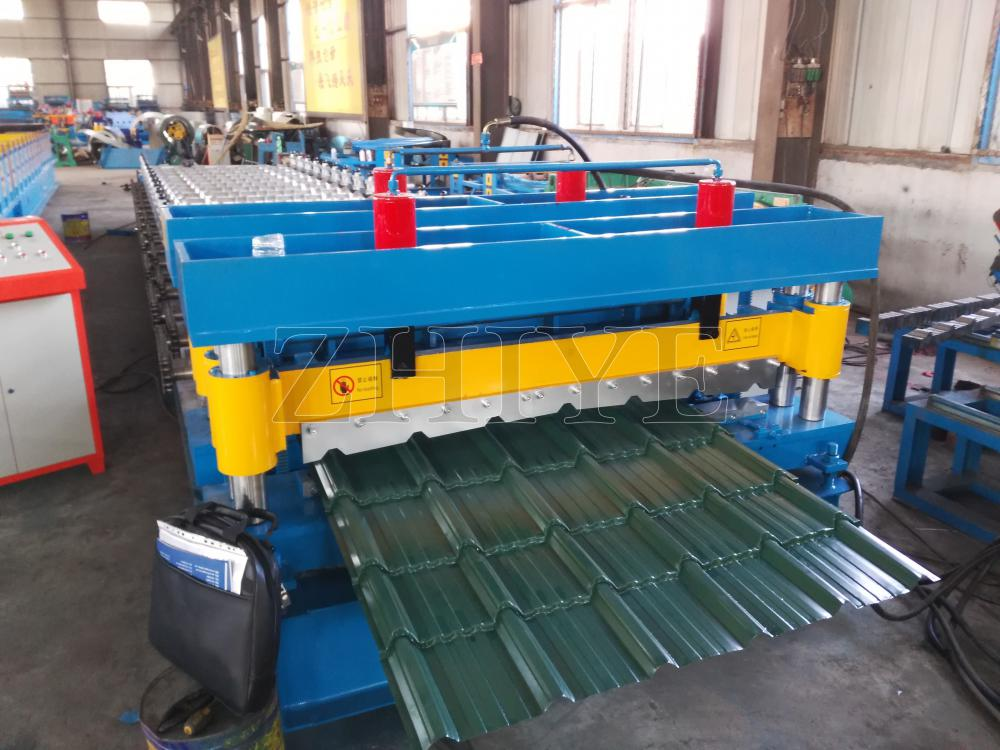 CE Standard Glazed Tile Forming Lines Colored Steel Botou