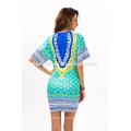 2017 moda de verano impreso vestido de playa Comercio de leopardo de moda