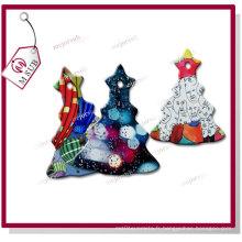 Sublimation enduit blanc céramique arbre ornement pour les cadeaux de Noël