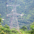 220 Kv 4 Legged Lattice Tower with Double Circuit