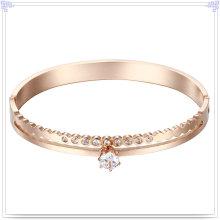 Joyería de moda joyería de cristal brazalete de acero inoxidable (br557)