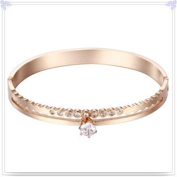Moda jóias de cristal jóia de aço inoxidável bracelete (br557)