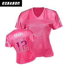 Wholesale Sportswear Custom Women Pink American Football Shirt