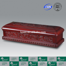 LUXES Presiden-Fairies Chinese Artistic Casket Funeral Wooden Caskets With Delicate Carvings