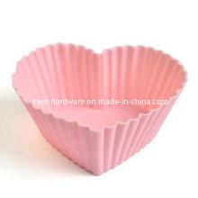 Molde en forma de corazón en forma de gel de silicona (SE-293)