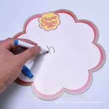 Tablero de escritura de papel de fácil borrado fácil personalizado barato con la pluma de la marca