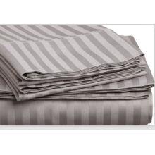 Queen Size café por atacado roupa de cama lençóis de algodão