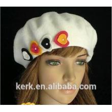 2015 nuevo sombrero de las boinas de la aduana del angora del invierno de la felpa