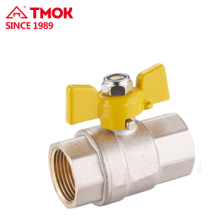 Top butterfly handle internal thread brass gas valve Dn15