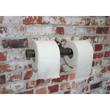 "DOUBLE TOILET ROLL Holder Industrial 3/4"" Pipe fitting"