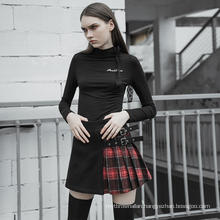 OPQ-471 PUNK RAVE Girls Skirt Korean Fashion Skirt Japan High School College Sexy Casual Dresses Plus Size Fit and Flare Full 3D