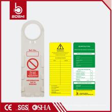 BRADY tags de andaimes !! Roung Hole Plastic Etiqueta de andaimes de alta qualidade para gravação e registro de inspeção BD-P33