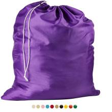 Stock gift large Locking Drawstring Closure durable washable traveling nylon Laundry Bag