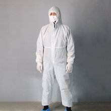 Disposable Medical Gown with Waterproof Hood Protective Suit