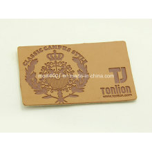 Embossed Leather Patch for Jean 2015 New Fashion High Quality Custom Embossed Leather Patch