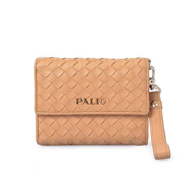 Fashion Top Layer Braided Sheep Leather Money Purse Women Wallet