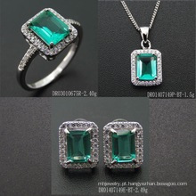 2016 Popular Green Spinel Sterling Silver Jewelry