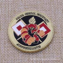 Kundenspezifische Logo-Farbe gefüllte beide Münzen-nachgemachte Goldüberzug-Andenken-Münze