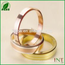 argent en alliage de métal précieux inlay bande de laiton