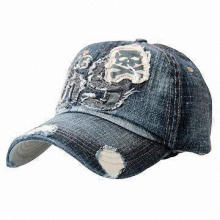 Reminisced Denim Baseball/Sports Casual Cap for Sightseeing and Tour, Customized Logos are Welcome