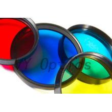 Diámetro óptico de 523 nm Filtro verde de 5 mm * 1 mm de China