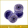 Nuevo diseño de 316L acero inoxidable Multi Gems estrellas láser falso tramposo enchufes