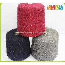 Estilo único de lana y hilados de acrílico mezclado para tejer bufanda