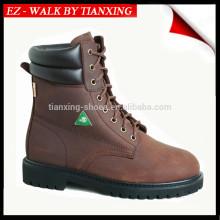 Одобренное CSA ботинок безопасности с стальным носком и натуральной кожи верхние