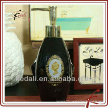 China Factory Wholesale Porcelain Ceramic Lotion Soap Dispenser Home Decor
