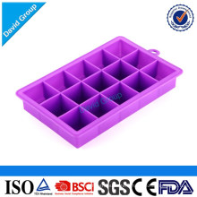 Beau plateau de glace en silicone en forme de rectangle