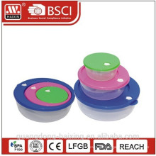 Envase de alimento plástico cuadrado set 3pcs 0.3L/0.8L/1.75L