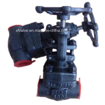 ANSI 800lb 1500lb Forged Steel A105 Thread End Globe Valve