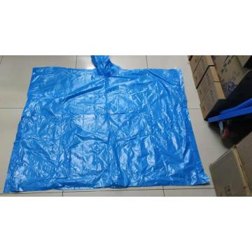 material PLA biodegradable poncho de lluvia color blanco leche