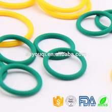 Molded foodgrade NBR silicone water proof o seal colored rubber o rings