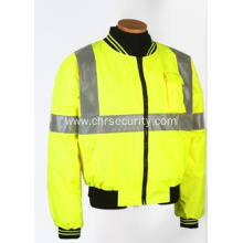 Reflective fashion safety cotton jacket