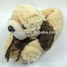 Chaussures d'intérieur de moutons en peluche mignonnes d'hiver pour les enfants