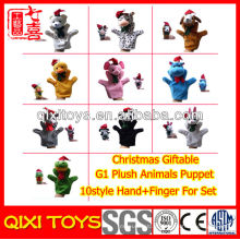 Fantoche de dedo de mão & dedo Animal de pelúcia de Natal para o conjunto