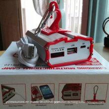 Aluminium Solar Multifuctional USB Outdoor LED Camping Licht (OS15052)