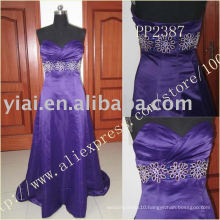 PP2388 Long Satin latest design formal evening gown 2014