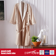 Luxury Peach Twill Hotel Use Bath Robe