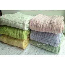 Weiche einfache strickende Decke Throw Blanket Home